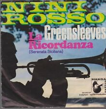 """7"""" Nini Rosso Trompete) Greensleeves / La Ricordanza 70`s Hansa"""