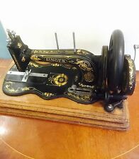 Antique Singer 12k Sewing Machine, Hand Crank, Working, 138 Years Old