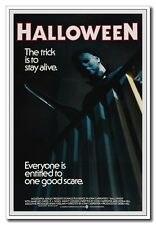 "24""x36"" Fiber Silk Horror Movie Poster Michael Myers With Knife Halloween"