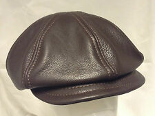 Jill Corbett Leather 8 piece cap dark brown leather Made to order in England