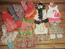 Girls mud pie bonnie jean monsoon LOT 10 outfits 12-18 months