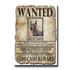 GREAT DANE Wanted Poster FRIDGE MAGNET No 1 New DOG