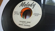 Bruce Channel 45 Satisfied Mind Melody Promo Motown Label Popcorn Northern Soul