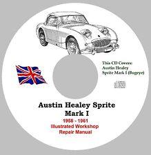 Austin Healey Bugeye Sprite MK 1 Factory Workshop Service Repair Manual