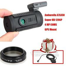 Mini 0826 Ambarella A7LA50 HD 1296P Car GPS Dash Camera DVR CPL + OBD Hard Wire