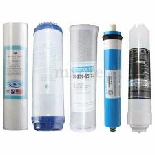 Full 5 stage Reverse Osmosis Replacement Water Filter set with 50 GPD Membrane
