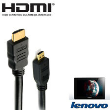 Lenovo Lynx K3011, Miix 300 Tablet Micro HDMI to TV Monitor 2m Lead Wire Cable