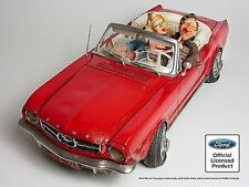 "'65 FORD MUSTANG 14"" GUILLERMO FORCHINO  COLLECTIBLE COMIC ART CAR ENTHUSIAST"