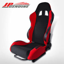 TYPE-7 FULL RECLINABLE RACING SEAT DIVER SIDE WOVEN BLACK / RED - UNIVERSAL
