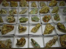 LOTE 35 WAVELLITA EN CAJITA - Lot 35 Wavellite boxes - Zamora - SPAIN MINERAL