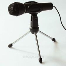 Studio Speech Vocal Dynamic Microphone MIC with Stand Mount Stander For Laptop