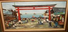"KONI ""VILLAGE OUTSIDE TAIWAN"" REPUBLIC OF CHINA ORIGINAL OIL ON CANVAS PAINTING"