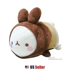 "Marshmallow Bunny Lovely Molang 13"" Cute Stuffed Plush Doll Cushion : Donut"