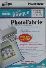 Photo Fabric Cotton Poplin 5 A4 sheets, print permanent images on fabric £12.75