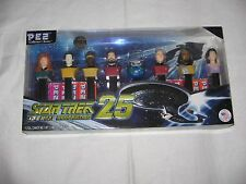 SET OF 8 STAR TREK THE NEXT GENERATION 25th ANNIVERSARY PEZ DISPENSERS-NEW