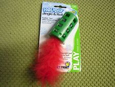New !   SmartPaw Jingle & Roll Bell Feather Christmas Cat Kitten Toy