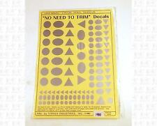 Virnex HO Decals Circle Oval Triangle Logo Shapes Silver 1980