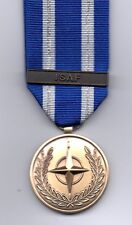 **NEW**  NATO MEDAL WITH CLASP:  ISAF  FULL-SIZE  MEDAL