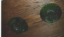 COLLECTIBLE 2 GREEN BERRY BOWLS WITH SMALL LEGS