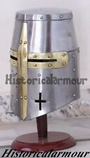 Medieval Knight Templar Crusader QZ Collectible Costume Armor Helmet BEST QUALTY