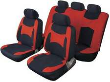 LAGUNA SECA UNIVERSAL FULL SET SEAT PROTECTOR COVERS RED & BLACK FOR DAIHATSU