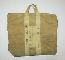 Scarce old vtg 1940s WWII US AAF Aviator Kit Bag ID'd Army Air Force Flyer Pilot