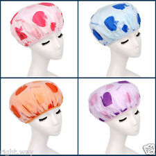 3PCs Shower Cap Bath Shower Reusable Clear Plastic Hair Cover Spa Salon Care