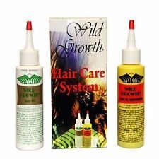 WILD GROWTH HAIR CARE SYSTEM 4 oz HAIR OIL'S Detangler & Extender! Olive, Jojoba