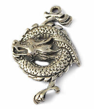 New  Sterling Silver Year of the Dragon Necklace Pendant Charm