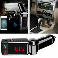 Bluetooth Wireless FM Transmitter Dual USB Charger w/Display for iPhone 7 6S 5