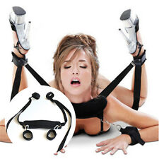 Adult Sex Toys Fetish Bondage Restraint Collar 4 Way Hand Ankle Cuff Strap Set