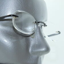 Frameless Invisible Lens Reading Glasses +1.50 Black Metal Trim