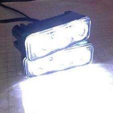 Useful 2pcs Car White Daytime Running Light 12V 3LED High Power DRL Fog Lamps