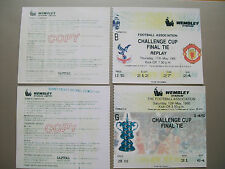 1990 F.A. Cup Final & Replay tickets Crystal Palace v Manchester United mint con