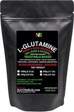 2.2 Lb (1kg) L-GLUTAMINE 100% PURE KOSHER FREE FORM NON GMO PHARMACEUTICAL GRADE