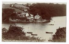 CORNISH POST CARD REAL PHOTO BY E. A. BRAGG PEEPS ON THE FAL MALPAS FERRY HOUSE