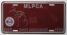 1994 MICHIGAN LICENSE PLATE COLLECTORS ASSOCIATION BOOSTER License Plate