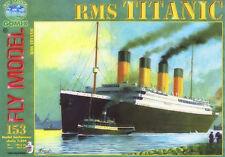 Rms titanic british passenger liner papier modèle 1:200 énorme 135cm