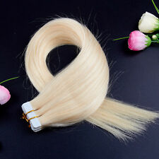 women's 20inch 50cm 50gr 100gr Tape in Remy Human Hair Seamless Extensions Weave