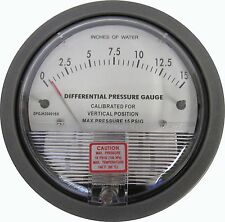 NEW 0-15 IN.WC DIFFERENTIAL PRESSURE GAUGE DPGJH200015X