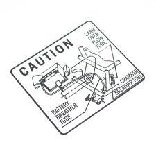 Honda CB 550 Four F F2 K3 Aufkleber Batterie Schutzblech Caution Decal Battery