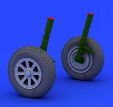 Eduard Brassin F4U-1 wheels Räder leicht abgeplattet 1:32 Modell-Bausatz Tamiya
