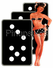 Sexy Dominos Pinup Girl Waterslide Guitar Decal S132 by pinupsplus