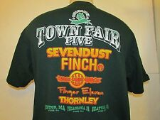 TOWN FAIR FIVE T Shirt 2004 Concert 3 DAYS GRACE Sevendust Finch Rock Fits SM/M