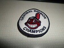 AWESOME CLEVELAND INDIANS CENTRAL DIVISION CHAMPIONS 3 INCH ROUND IRON ON PATCH