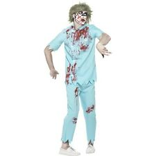 Men's Bloody Zombie Dentist Costume Fancy Dress Halloween Horror Large 42-44