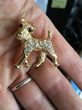 Designer UK made CHEEKY IRISH,WELSH,WIRE FOX,PARSON TERRIER,CRYSTAL DOG PIN