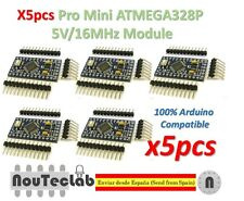 5pcs Pro Mini ATMEGA328P 5V/16MHz Module with Bootloader Pin Header for Arduino