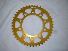 Yamaha R6'98-'02 Rear Sprocket. 520-43T. New Talon Alloy Gold Anodised Race Size