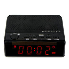 Bluetooth Speaker FM Radio Alarm Clock MP3 Player Phone Call 2000mA Battery CO